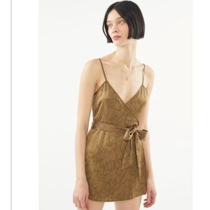 Urban outfitters satin romper